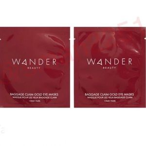 🔝5 for $25!💖Wander Beauty 2Pc Gold Eye Mask NEW!